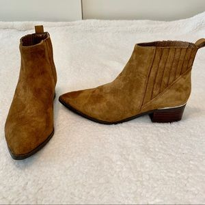 Marc Fisher Missir Taupe Suede Chelsea Boots